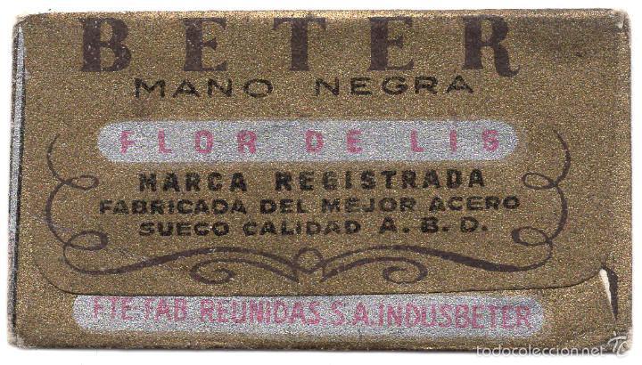Antigüedades: HOJA DE AFEITAR CON FUNDA - BETER FLOR DE LIS - Foto 2 - 56735639