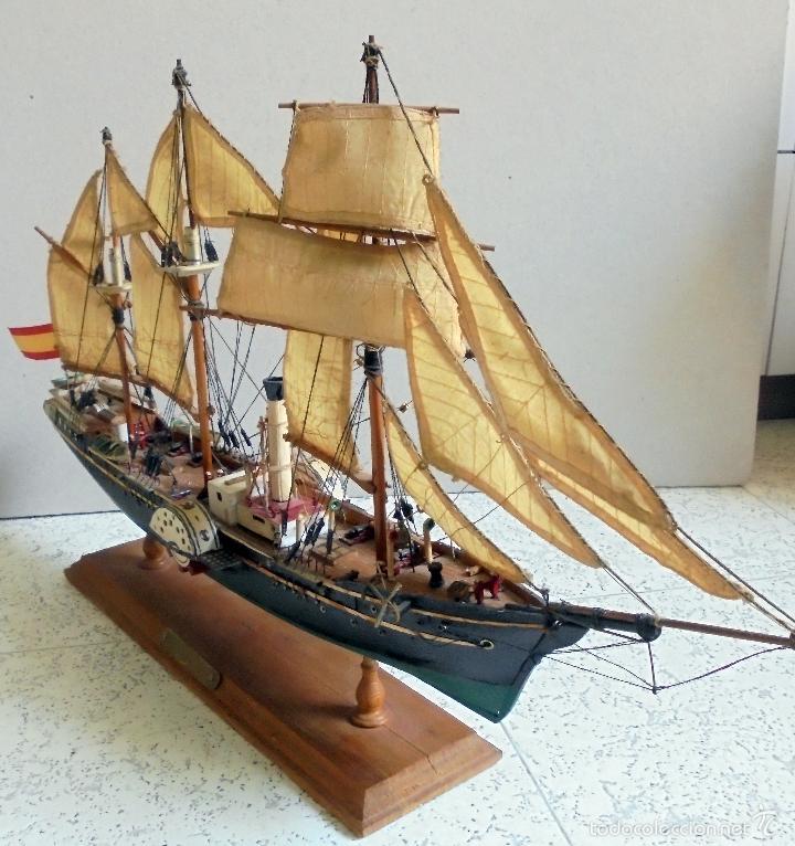 Maqueta de barco velero vapor san ildefonso a comprar - Antiguedades de barcos ...