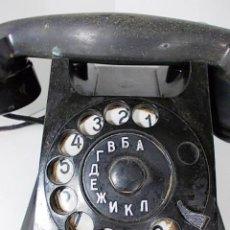 Teléfonos: ANTIGUO TELEFONO DE BAQUELITA CON MARCACION BULGARA. Lote 56742478