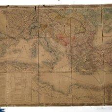 Antigüedades: MAPA NAUTICO ANTIGUO 1842 TABLAS Y RUTAS NAVEGACION BARCOS A VAPOR KAEPPELIN ET CIE. PARIS. Lote 56810347