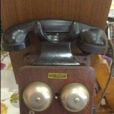 Teléfonos: TELEFONO DE PARED MUY ANTIGUO MADERA. Lote 56639154