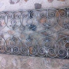 Antigüedades: REJA FORJA REMACHES ANTIGUA GRUESO 3 LARGO 1,28 ALTO 63,5 MAS DE 100 AÑOS. Lote 56845200