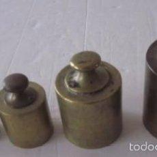 Antigüedades: JUEGO DE PESAS. Lote 56847502