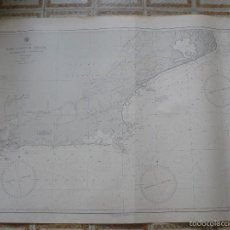 Antigüedades: EAST COAST OF BRAZIL - CABO DE SAO TOME TO RIO DE JANEIRO - CARTA MARINA 77X108 CM. - 1945. Lote 56866105