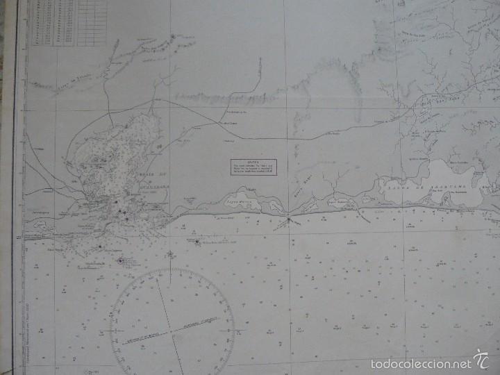 Antigüedades: EAST COAST OF BRAZIL - CABO DE SAO TOME TO RIO DE JANEIRO - CARTA MARINA 77X108 CM. - 1945 - Foto 5 - 56866105