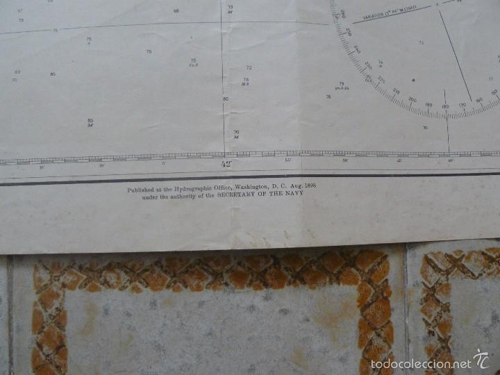 Antigüedades: EAST COAST OF BRAZIL - CABO DE SAO TOME TO RIO DE JANEIRO - CARTA MARINA 77X108 CM. - 1945 - Foto 8 - 56866105