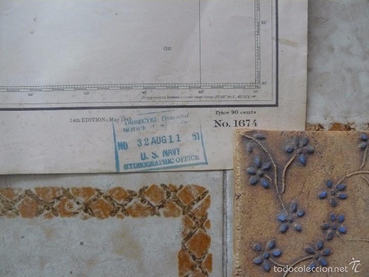 Antigüedades: EAST COAST OF BRAZIL - CABO DE SAO TOME TO RIO DE JANEIRO - CARTA MARINA 77X108 CM. - 1945 - Foto 9 - 56866105