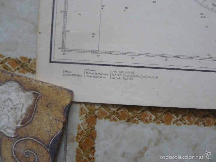 Antigüedades: EAST COAST OF BRAZIL - CABO DE SAO TOME TO RIO DE JANEIRO - CARTA MARINA 77X108 CM. - 1945 - Foto 10 - 56866105