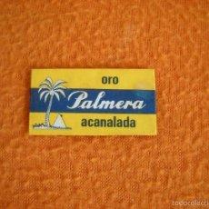 Antigüedades: HOJA DE AFEITAR PALMERA ORO ACANALADA - SIN USAR. Lote 56883677