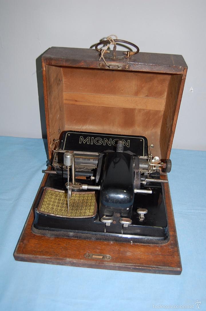 MAQUINA ESCRIBIR DE LA FIRMA ALEMANA MIGNON 1925 (Antigüedades - Técnicas - Máquinas de Escribir Antiguas - Mignon)