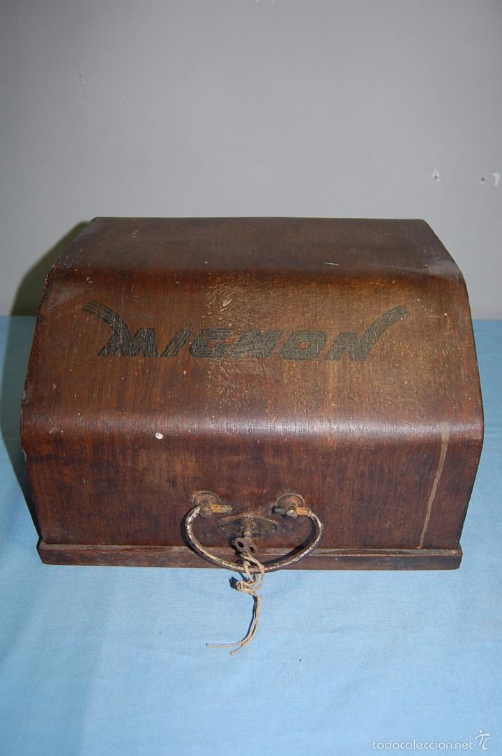 Antigüedades: MAQUINA ESCRIBIR DE LA FIRMA ALEMANA MIGNON 1925 - Foto 17 - 56919616