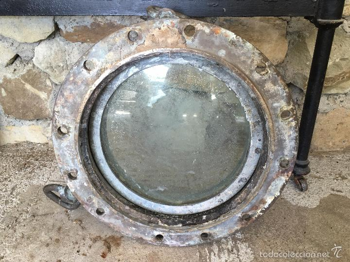 Antigüedades: Pareja de ojos de buey de bronce completas. Pair of complete bronze porthole windows - Foto 4 - 56922348