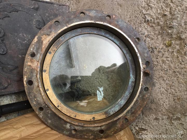 Antigüedades: Pareja de ojos de buey de bronce completas. Pair of complete bronze porthole windows - Foto 5 - 56922348