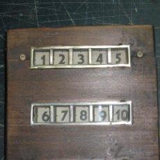 Antigüedades: ANTIGUO MARCADOR, AVISADOR DE HABITACIONES.. Lote 56942145