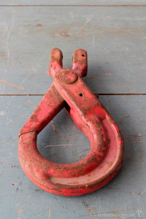 GANCHO DE HIERRO ANTIGUO, GRAN TAMAÑO (Antigüedades - Técnicas - Herramientas Profesionales - Mecánica)