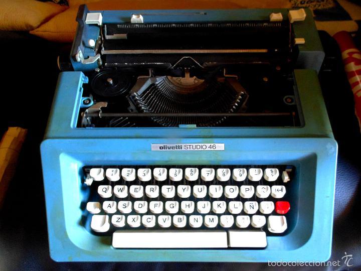 ANTIGUA MAQUINA DE ESCRIBIR PORTATIL OLIVETTI STUDIO 46 (Antigüedades - Técnicas - Máquinas de Escribir Antiguas - Olivetti)