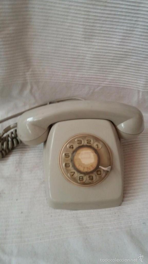 TELÉFONO COLOR GRIS CON RUEDA (Antigüedades - Técnicas - Teléfonos Antiguos)