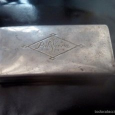 Antigüedades: ANTIGUO. CONJUNTO EN CAJA METALICA DE AFEITADO EN VIAJE . MARCA. PALMERA.. Lote 57069025