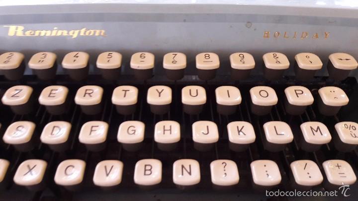 Antigüedades: maquina de escribir con funda remington - Foto 2 - 57093061