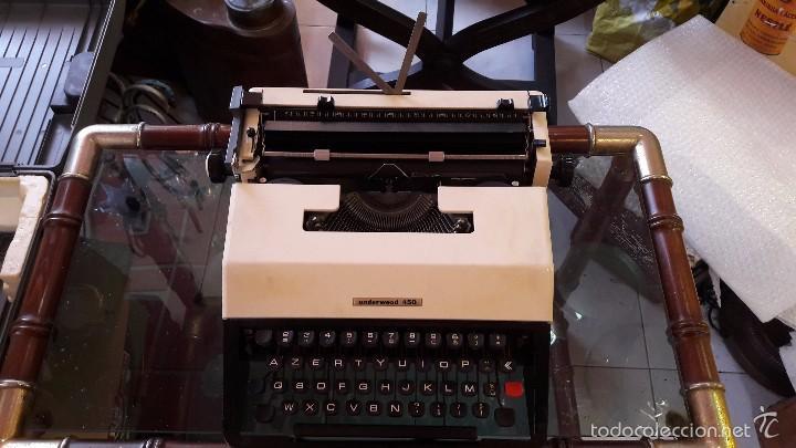 MAQUINA DE ESCRIBIR CON FUNDA UNDERWOOD (Antigüedades - Técnicas - Máquinas de Escribir Antiguas - Underwood)