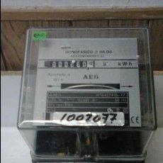 Antigüedades: CONTADOR ELÉCTRICO AEG. Lote 57094103