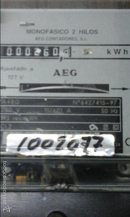Antigüedades: Contador eléctrico AEG - Foto 2 - 57094103