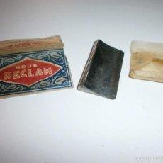 Antigüedades: RECLAM HOJA DE AFEITAR CON FILO DE NAVAJA . Lote 57121641