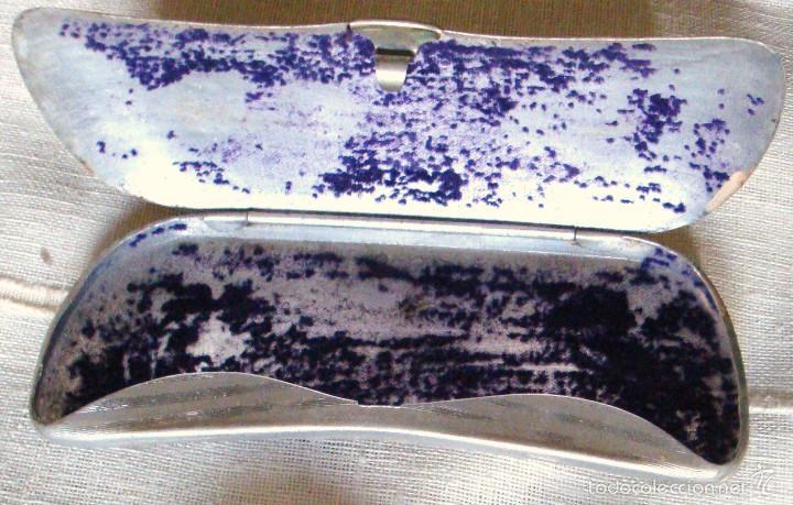 Antigüedades: Estuche metálico para gafas muy antiguo - Foto 2 - 57137393