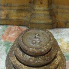 Antigüedades: JUEGO DE PESAS INGLESAS LS LIBRAS. Lote 56795970