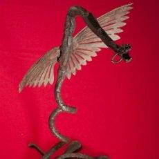Antigüedades: EXTRAORDINARIO DRAGON EN HIERRO FORJADO. ORIGINAL. FINALES SIGLO XIX. Lote 57153907
