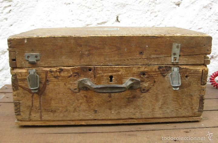 Antigüedades: FANTASTICA CAJA ANTIGUA MADERA AÑOS 20 CON DOBLE FONDO IDEAL HERRAMIENTAS DECORACION INDUSTRIAL - Foto 3 - 57191669