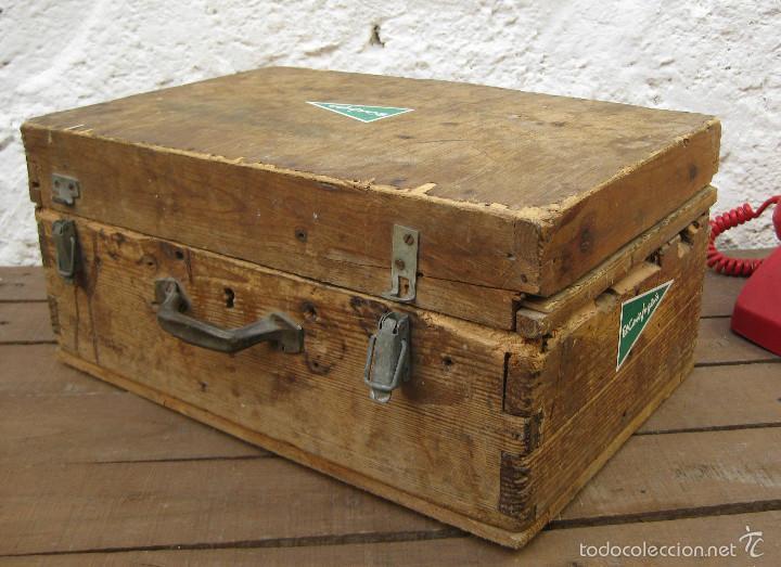 Antigüedades: FANTASTICA CAJA ANTIGUA MADERA AÑOS 20 CON DOBLE FONDO IDEAL HERRAMIENTAS DECORACION INDUSTRIAL - Foto 4 - 57191669