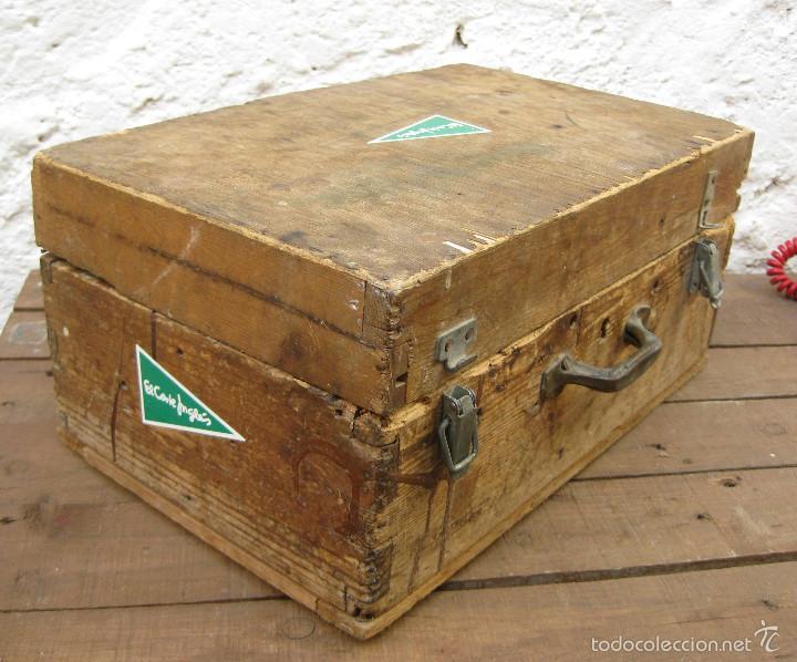 Antigüedades: FANTASTICA CAJA ANTIGUA MADERA AÑOS 20 CON DOBLE FONDO IDEAL HERRAMIENTAS DECORACION INDUSTRIAL - Foto 5 - 57191669