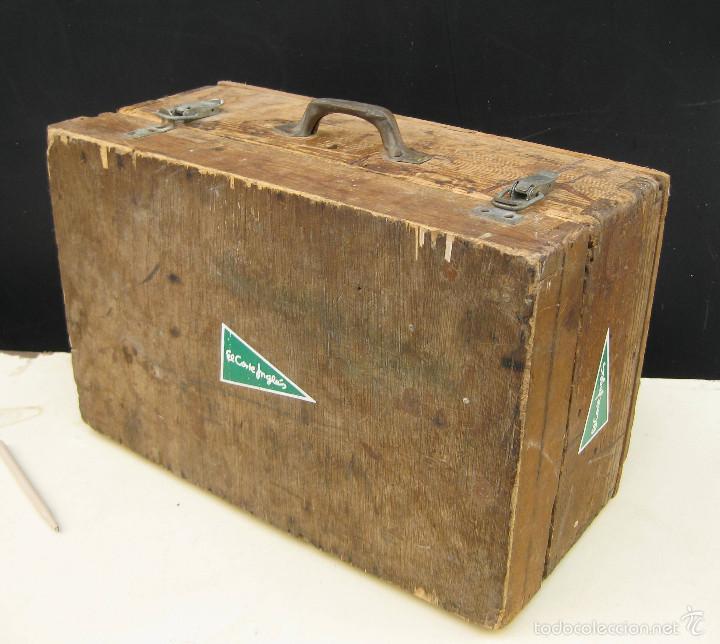 Antigüedades: FANTASTICA CAJA ANTIGUA MADERA AÑOS 20 CON DOBLE FONDO IDEAL HERRAMIENTAS DECORACION INDUSTRIAL - Foto 8 - 57191669