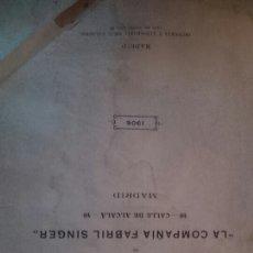 Antigüedades: MANUAL SINGER 1906. Lote 57225187