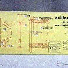 Antigüedades: ANTIGUA REGLA DE CALCULO, ANILLOS ELASTICOS DE SEGURIDAD, EDITORIAL VAGMA, REGLA Nº 18, 1971. Lote 57227759