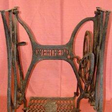 Antigüedades: ANTIGUO PIE DE MAQUINA DE COSER MARCA WERTHEIM. Lote 57239026