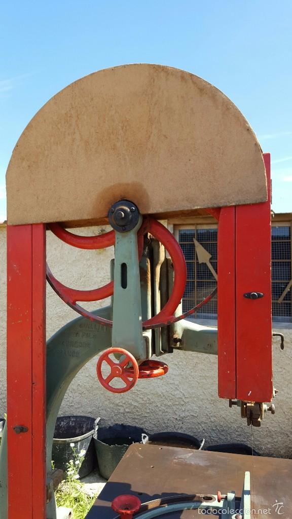 Antigüedades: Sierra de cinta para madera volante de 70 - Foto 2 - 57244671