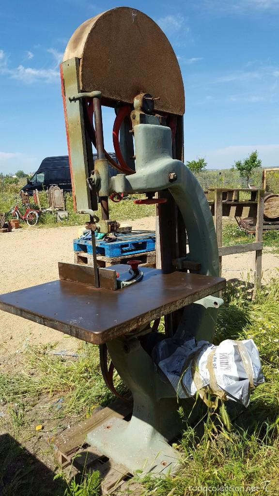 Antigüedades: Sierra de cinta para madera volante de 70 - Foto 5 - 57244671