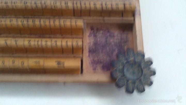 Antigüedades: pequeña imprenta manual de bolsillo - Foto 2 - 57267924
