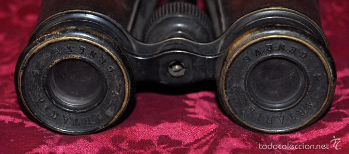 Antigüedades: ANTIGUOS PRISMÁTICOS ANTEOJOS DE LA MARCA ARTARIA GENEVE) AÑOS 40 - Foto 4 - 57296037