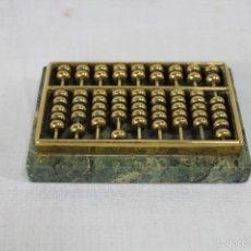 Antigüedades: ABACO CHINO ANTIGUO EN MARMOL Y BRONCE. Lote 57315917
