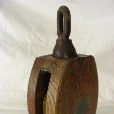 Antigüedades: POLEA INDUSTRIAL, AÑOS 30-40. Lote 57368471