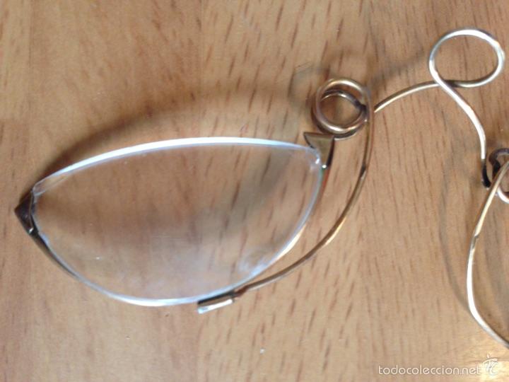 Antigüedades: Gafas Quevedo o anteojos con funda - Foto 3 - 57381915