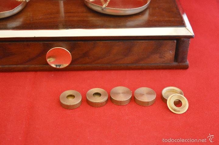 Antigüedades: PRECIOSA BALANZA DE PRECISIÓN DE BIRMANIA CON JUEGO DE PESAS EXCLUSIVO - Foto 4 - 57389472