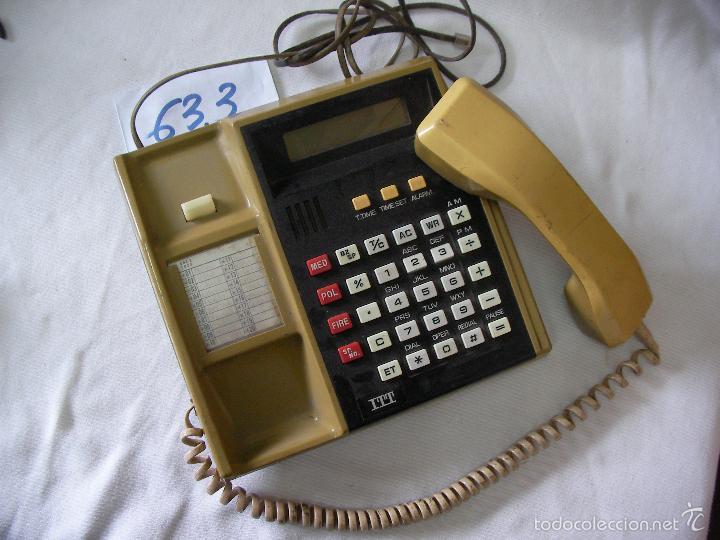 ANTIGUO TELEFONO ITT DE GRAN TAMAÑO (Antigüedades - Técnicas - Teléfonos Antiguos)