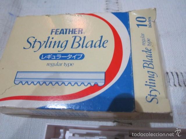 Antigüedades: Navaja de afeitar con caja de cuchillas. - Foto 5 - 57448283