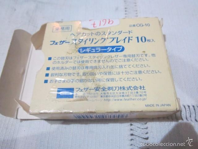 Antigüedades: Navaja de afeitar con caja de cuchillas. - Foto 6 - 57448283