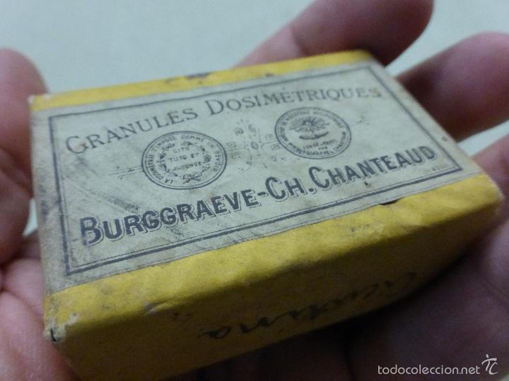 Antigüedades: ANTIGUA CAJA MEDICAMENTO CICUTINA CICUTINE-FARMACIA BURGGRAEVE CH.CHANTEAUD-PARÍS-PRECINTADA.AÑOS 20 - Foto 6 - 57478194
