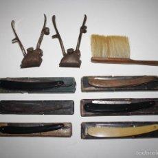 Antigüedades: NA-031. LOTE DE 6 NAVAJAS DE AFEITAR Y 2 MAQUINAS DE RAPAR - VER MARCAS EN FOTOS. Lote 42756998